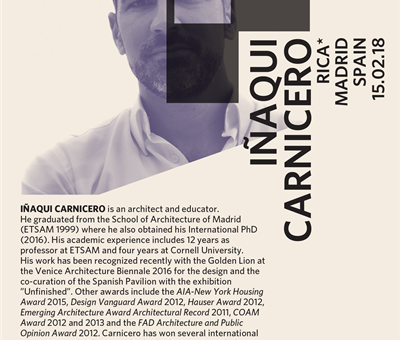 Iñaqui Carnicero to speak at ILS